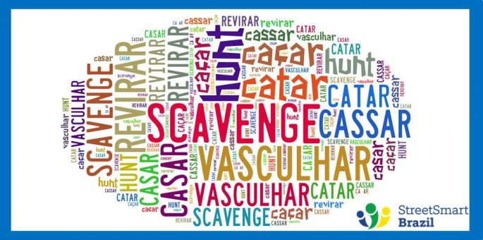 How to Say To Scavenge & Hunt in Portuguese