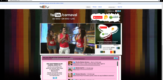 YouTube Streaming Carnival Live