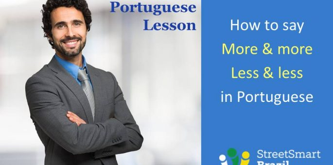 How to say More and More - Less and Less in Portuguese - Portuguese lesson