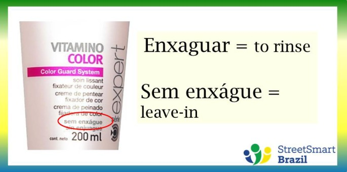 How to Say Lotion and Leave-In Conditioner in Portuguese