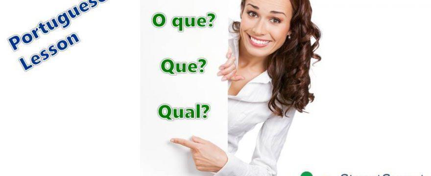 Master Question Words in Portuguese: O que, Que, Qual