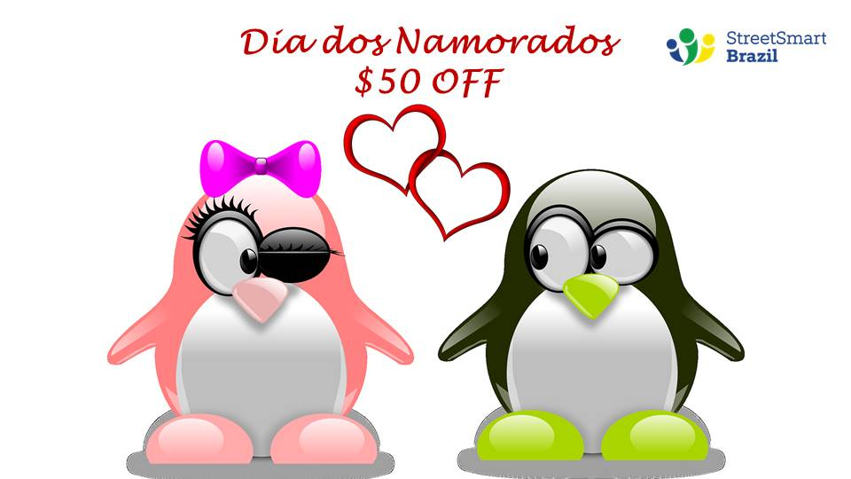 Valentine in Brazil Portuguese lessons coupon