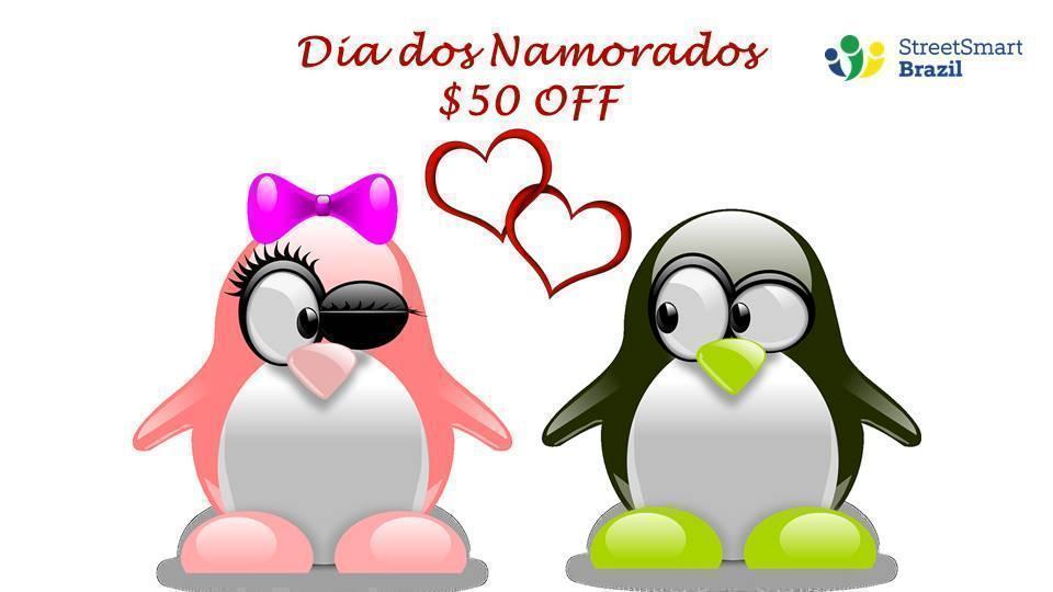 Valentine in Brazil Portuguese lessons coupon