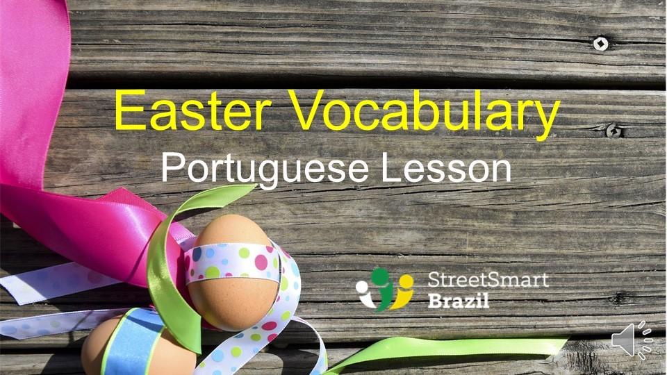 Portuguese lesson - Easter vocabulary in Portuguese - video