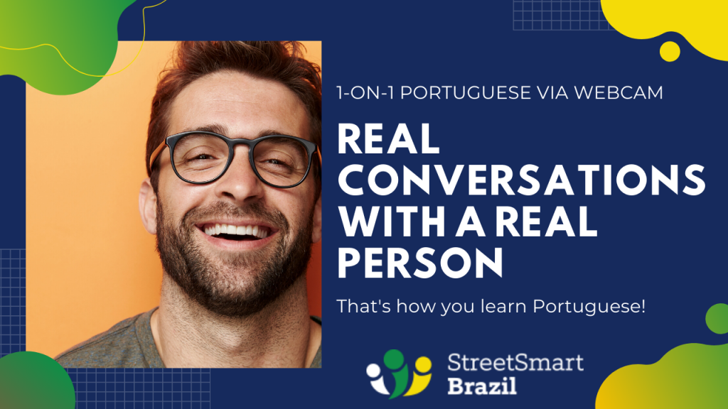1-on-1 private Portuguese lessons via video meetings
