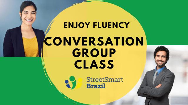 Brazilian Portuuguese conversation group classes - Online lesson via video meetings