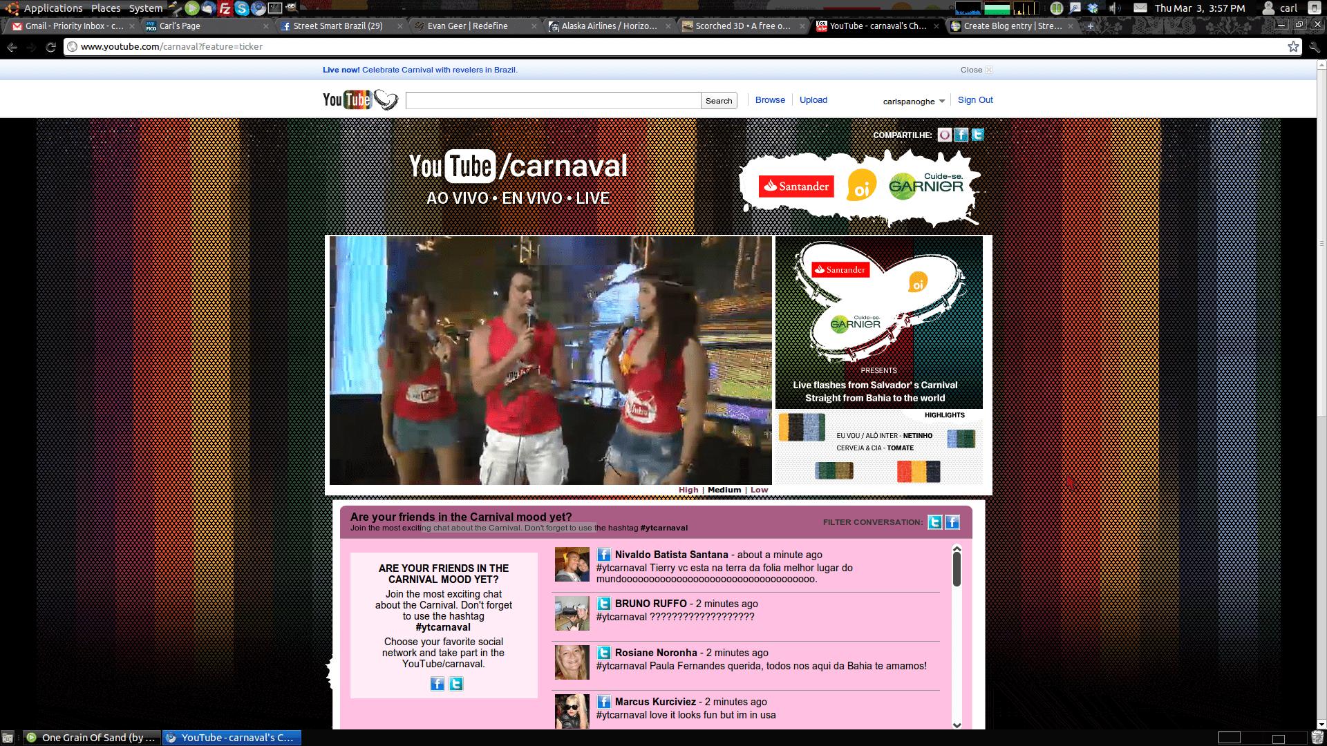 youtube streaming carnival live street smart brazil