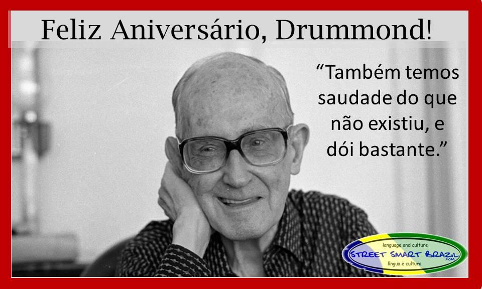 Brazilian Poet Carlos Drummond de Andrade and Colloquial Portuguese Expression